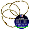 #3 Brass Plated Steel Ball Chain Key Chains - 4.5 Inch Length