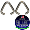 .062 inch diameter oval jump ring for jewelry and necklaces. Made in the USA of nickel plated steel.