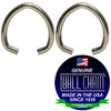 .072 Inch Oval Jump Rings - Nickel Plated Steel used in jewelry making and other similar applications.