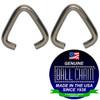 .072 Inch Triangular Jump Rings - Nickel Plated Steel