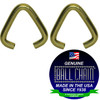 .072 Inch Triangular Jump Rings - Brass Plated Steel