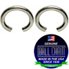 .080 Inch Round Jump Rings - Nickel Plated Steel