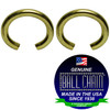 .080 Inch Round Jump Rings - Brass Plated Steel
