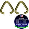 .093 Inch Triangular Jump Rings - Brass Plated Steel