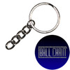 24mm Nickel Plated Steel Split Key Rings with Chain & Jump Ring