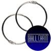 2-1/2 inch nickel plated steel binder rings AKA loose leaf rings.