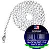 #6 Ball Chains Pre-Cut Three Foot Length White Coated
