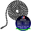 #6 Ball Chains Pre-Cut Three Foot Length Black Coated