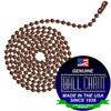 #6 Ball Chains Pre-Cut Three Foot Length Mystic Red