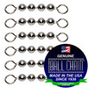 #6 Stainless Steel Ball Chain Fishing Swivels - 4 Ball Length