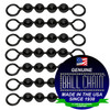 #6 Black Coated Ball Chain Fishing Swivels - 4 Ball Length
