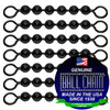 #6 Black Coated Ball Chain Fishing Swivels - 6 Ball Length