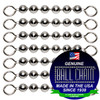8 #10 Stainless Steel Ball Chain Fishing Swivels - 6 Ball Length.