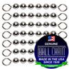 8 #10 Stainless Steel Ball Chain Fishing Swivels - 6 Ball Length.