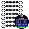 #10 Black Coated Ball Chain Fishing Swivels - 4 Ball Length