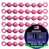 #10 Pink Coated Ball Chain Fishing Swivels - 6 Ball Length