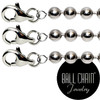 #2 Nickel Plated Brass Ball Chains with Lobster Claw - 20 Inch Length