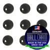 2.4mm Round Metal Beads - Gun Metal