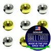 3.2mm Round Metal Beads - Nickel Plated Brass, Yellow Brass, or Gilding Metal