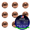 8.0mm Round Metal Beads - Copper