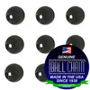 9.5mm Round Metal Beads - Gun Metal