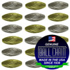 3.2mm x 4.8mm Elliptical Bars Spiral - Nickel Plated Brass, Yellow Brass, or Gilding Metal