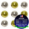 2.4mm Faceted Metal Beads - Nickel Plated Brass, Yellow Brass, or Gilding Metal