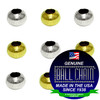 3.2mm Rondell Beads - Nickel Plated Brass, Yellow Brass, or Gilding Metal