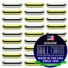 6.3mm x 12.7mm Plain Bars - Nickel Plated Brass, Yellow Brass, or Gilding Metal