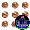 2.4mm Fluted Beads - Copper