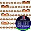 #3 Copper Chains with Connector - 30 Inch Length