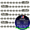 #3 Stainless Steel Ball Chains with Connector - 18 Inch Length. This ball chain is perfect for outdoor applications.