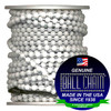 #6 White Coated Ball Chain Spool over carbon steel.