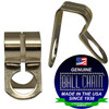 Stainless steel ball chain d couplings for use in retaining applications. Made in the USA since 1938.