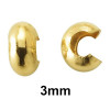 3mm open ball jewelry making crimp covers made of 12k gold filled.