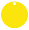 Yellow Anodized Aluminum 1.5 inch Circle Tag