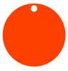 Orange Anodized Aluminum 1.5 inch Circle Tag