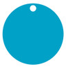 Light Blue Anodized Aluminum 1.5 inch Circle Tag