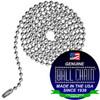 #6 Ball Chains Pre-Cut Three Foot Length Nickel Plated Brass