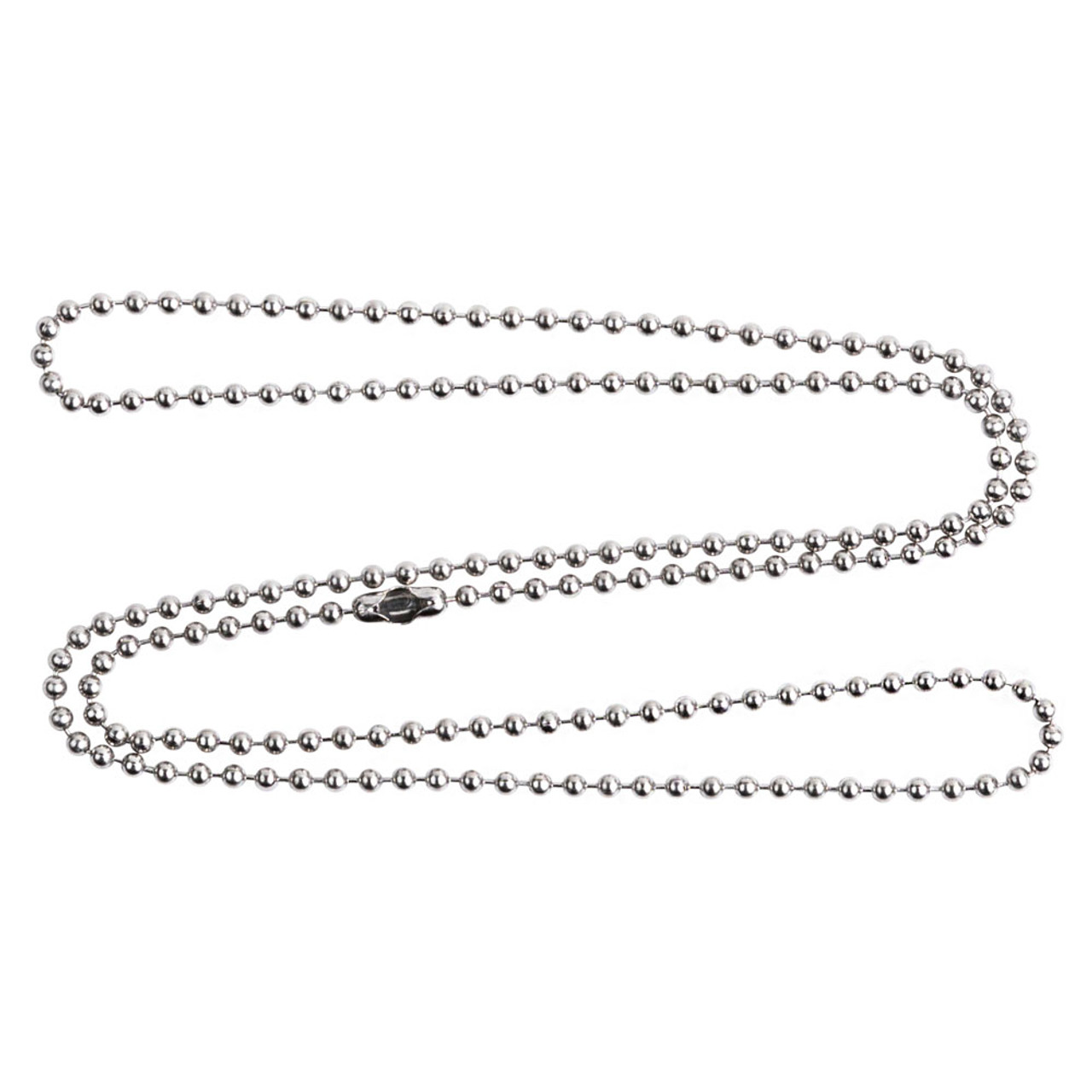 #3 24 inch b all chains with connector in s shape and clasped.