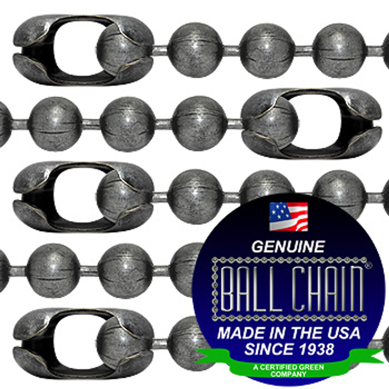#20 Dungeon Finish Ball Chains with Connector - 18 Inch Length
