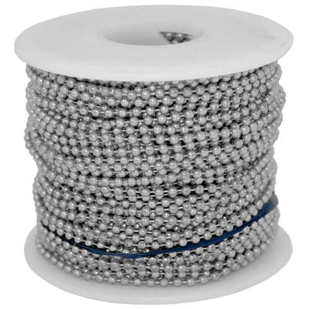 #3 aluminum ball chain or bead chain roll/spool. This is the most economical way to purchase the #3 ball chain and is great if you want to save money while making your own beaded chain necklaces.