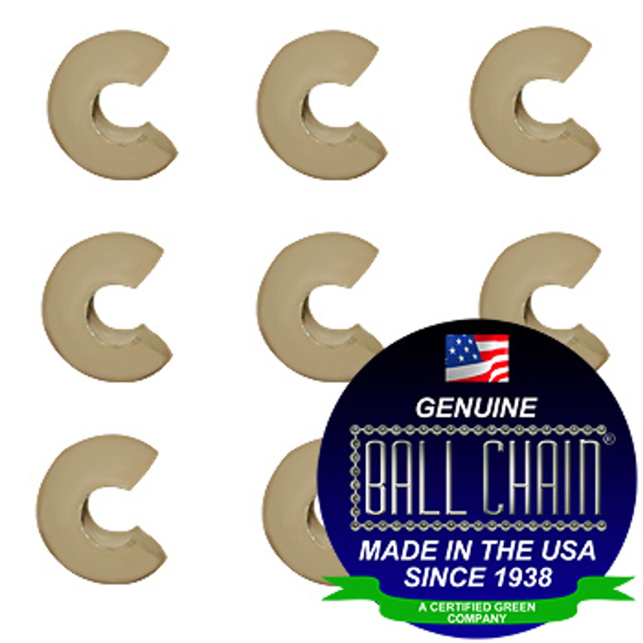 3/8 Inch Beige Open Ball