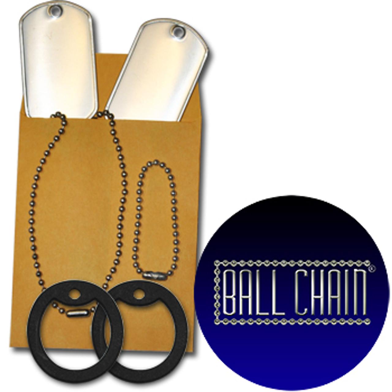 Custom Dog Tag 5 Pack (5 Dog Tags, 5 Chains, & 5 Silencers)
