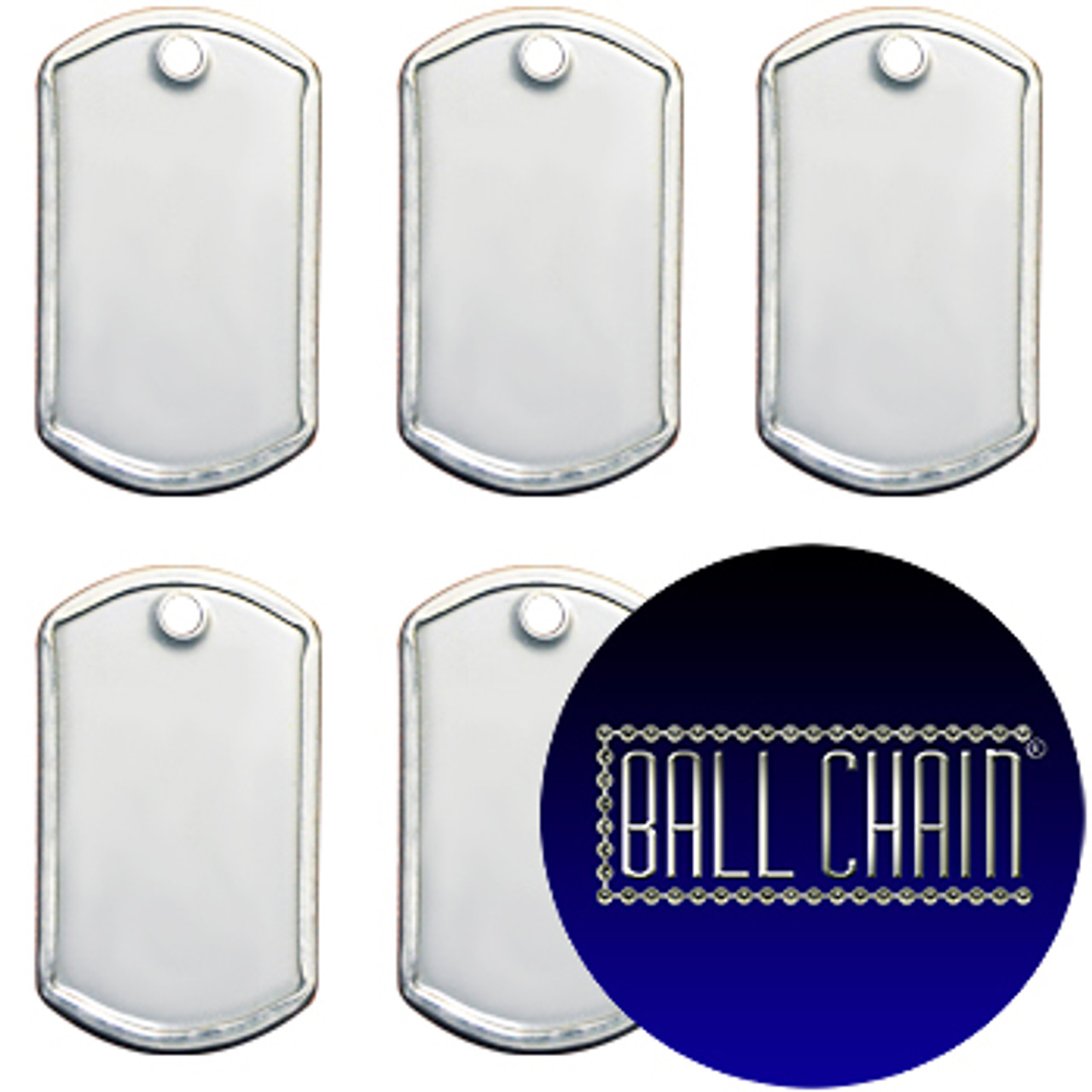 Mini Dog Tags -Blank Rolled Edge Stainless Steel -Shiny Finish