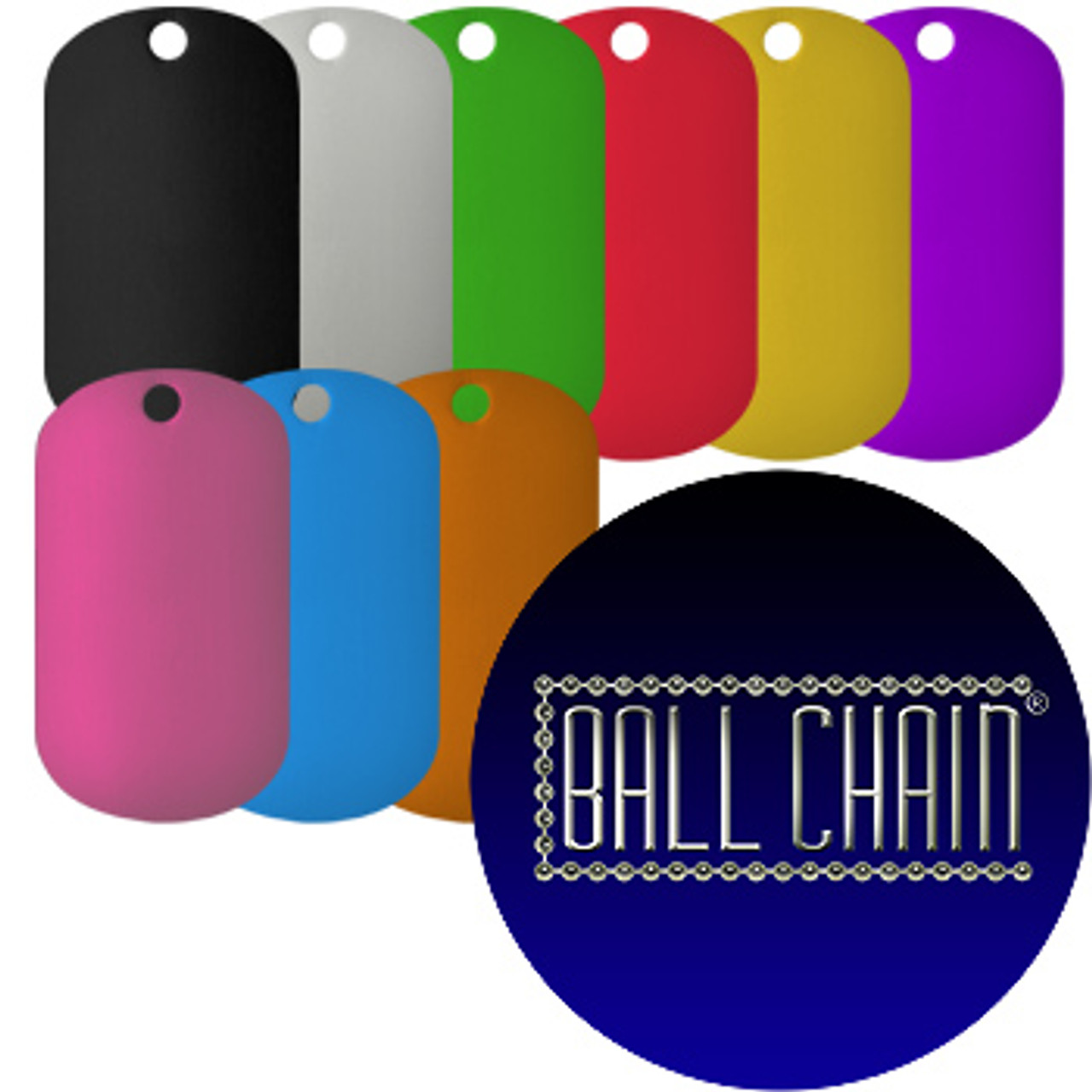 Anodized Aluminum Color Dog Tags (0.8 mm thick)