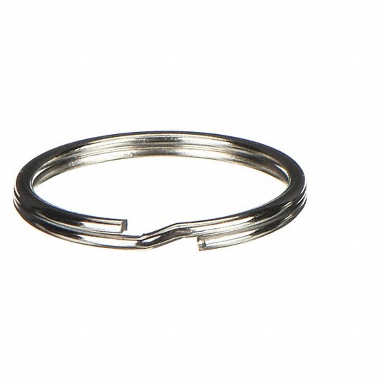 Single nickel plated key rings 15mm diameter as measured from the inside.