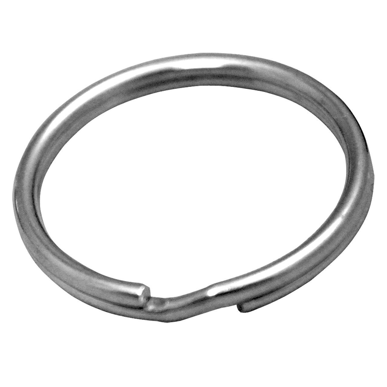 25mm nickel plated split key ring.