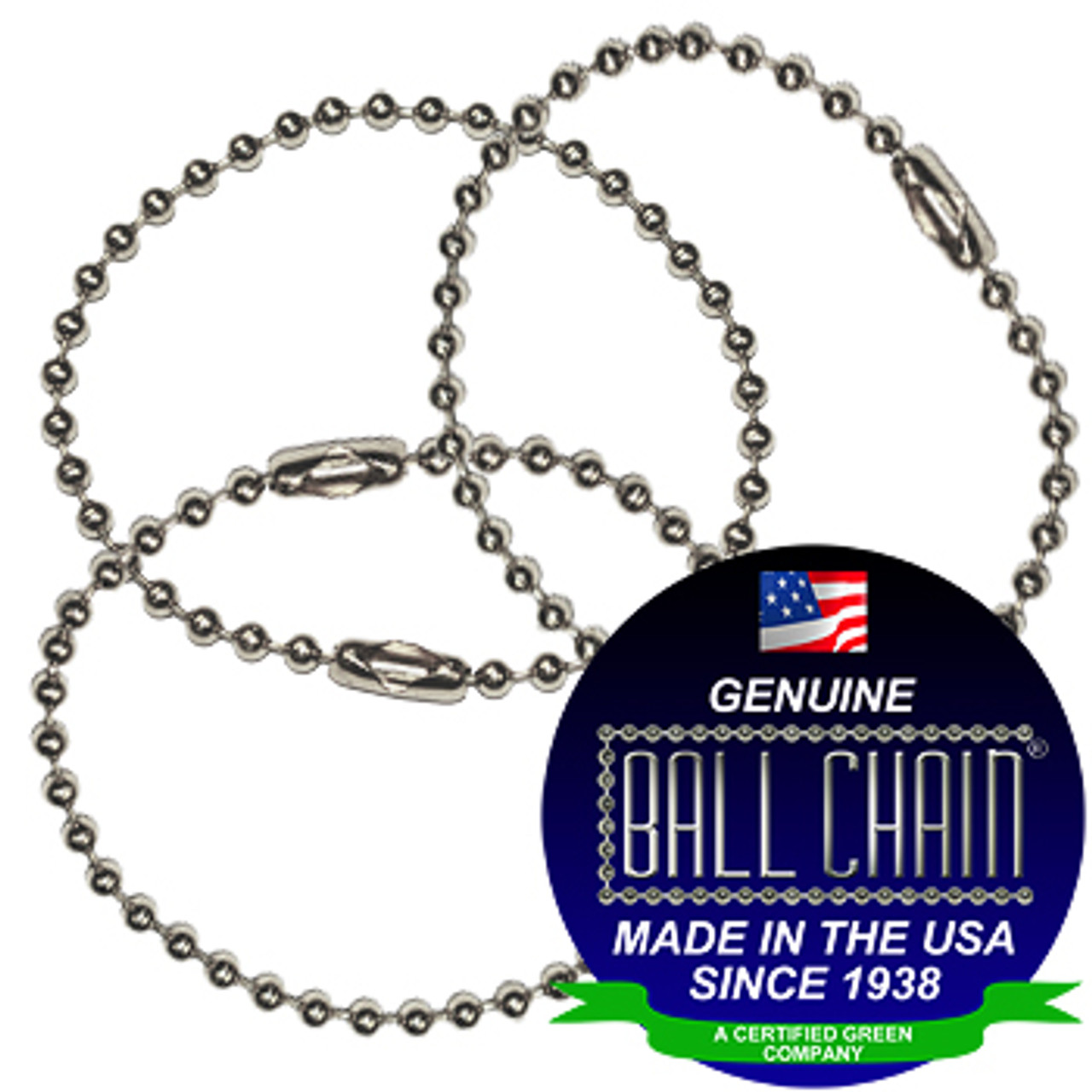 #3 Aluminum Key Chains - 4 Inch Length