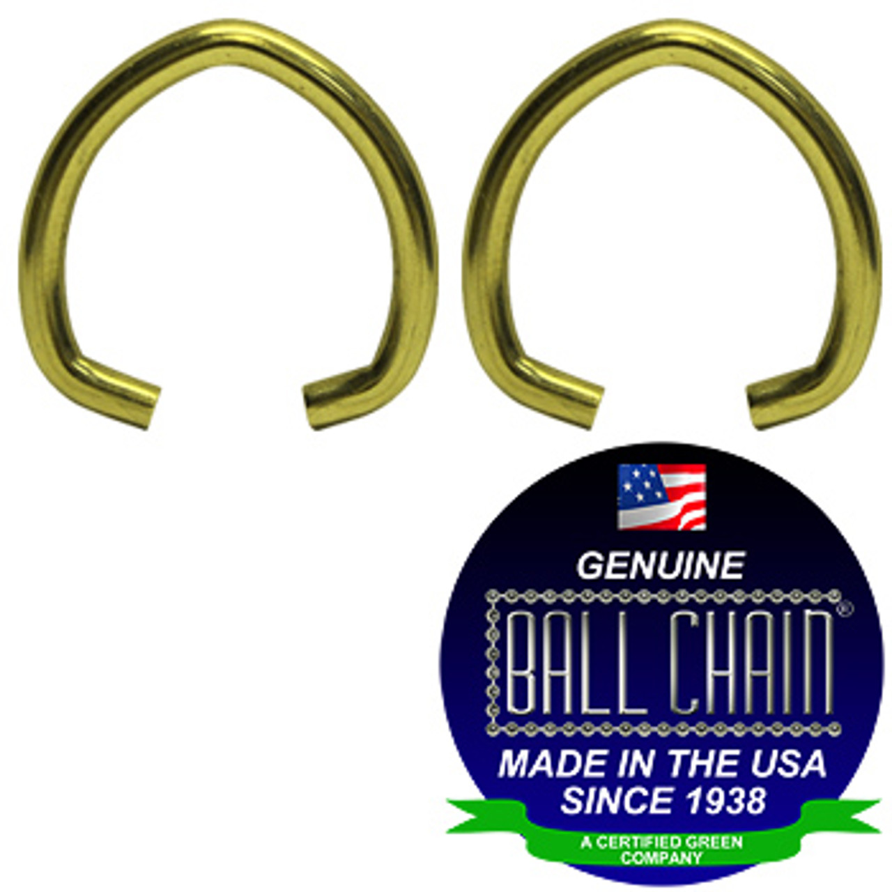 .080 Inch Large Oval Jump Rings - Brass Plated Steel
